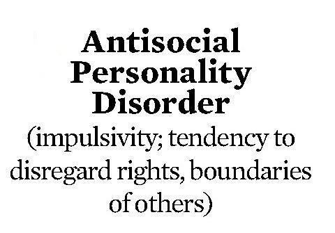 Need help with Antisocial personality disorder?